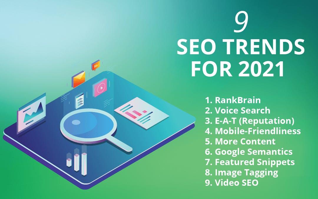 nine seo trends for 2021